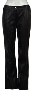 Escada Womens Textured Leather Casual Trousers Pants