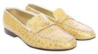 Escada Loafers Vintage Equestrian Gold Flats
