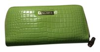 Escada Rare Snakeskin Embossed Leather Zippy Wallet/Clutch (louis vuitton)