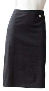 Escada Cotton Blend Skirt Black
