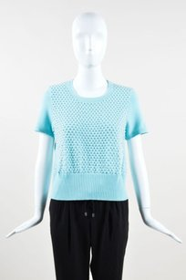 Escada Mint Wool Knit Top Green