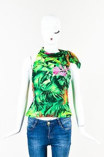 Escada Green Pink Yellow Side Top Multi-Color