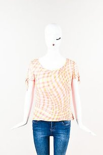 Escada Pink Yellow Silk Top Multi-Color
