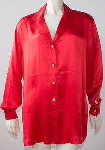 Escada 100 Silk Long Top Red