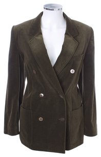 Escada Vintage German Double Breasted Vicose OLIVE Blazer