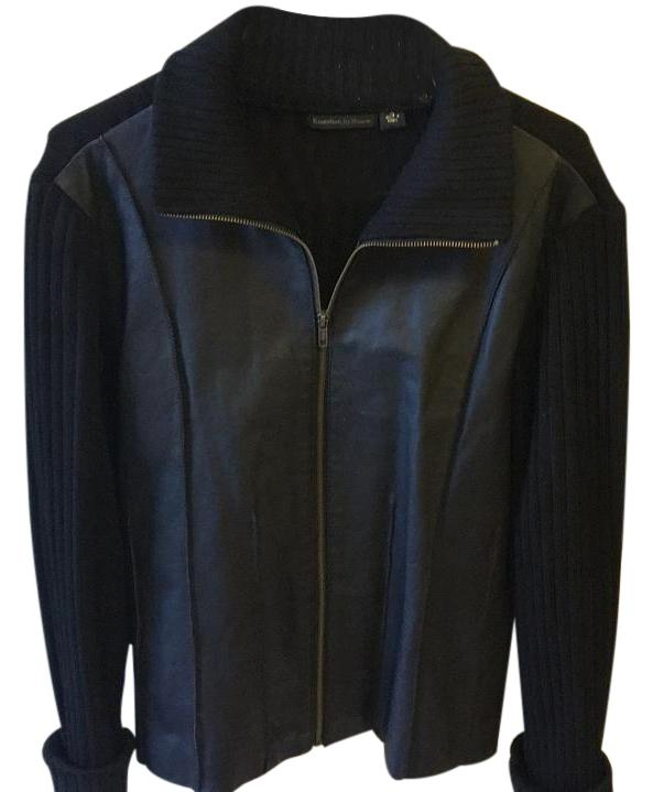 Essentials By Milano Leather Jacket