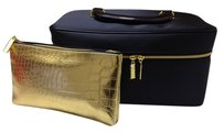 Estee Lauder Estee Lauder Navy Blue Makeup Cosmetic Bag/Tote and Gold Cosmetic Purse $49.95