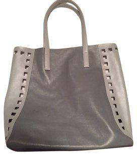 Estee Lauder and Clinique Tote in Gray, Blue/green And White