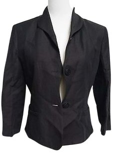 Etcetera Etcetera Black Linenrayonacetate Blend Two Button Blazer 12724