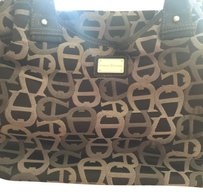 Etienne Aigner Satchel in Black, light and charcoal gray