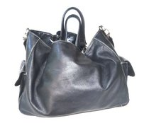 Etienne Aigner Leather Sac Tote in BLACK