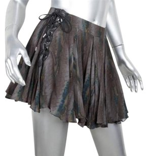 Etro Womens Abstract Skirt Gray