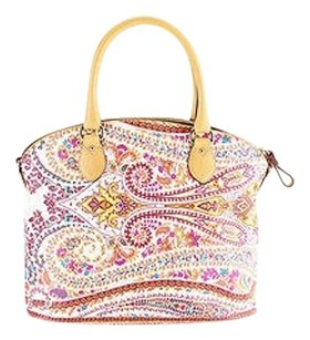 Etro Paisley Leather Shoppers Tote in multi-colored