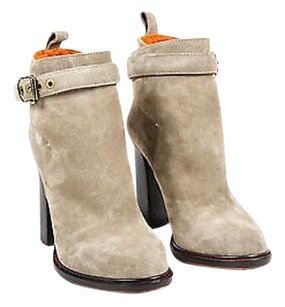 Etro Taupe Suede Strap Buckle Beige Boots