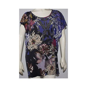 Etro Silk Cashmere Blend Light Weight Floral Batwing Hs1041 Sweater