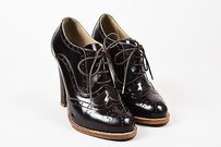 Etro Leather Lace Up Brown Boots