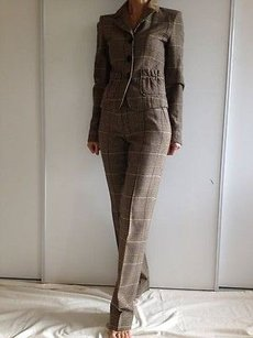 Etro Etro Beige Plaid Pants Suit. Made In Italy Uss