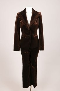 Etro Etro Brown Cotton Velvet Pant Suit