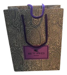 Etro Tote in Gray paisley/ purple handle