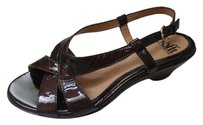 Eürosoft by Söfft Patent Leather Slingback Brown Sandals
