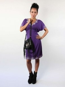 Everly Grey short dress Purple on Tradesy