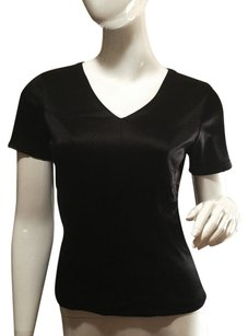 Evolution Metallic V-neck Stretchy Evening Top Black