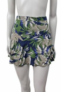 Express Mini Skirt gray green navy