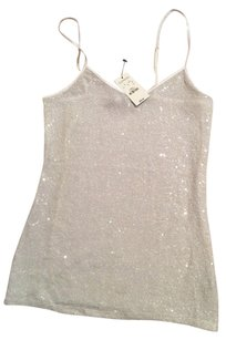 Express Top White sequins