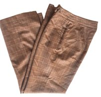 Faconnable Trouser Pants BROWN PLAID