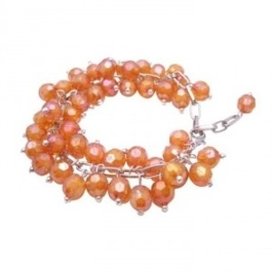 Bracelet Cluster Style Ab Orange Beads Cluster Bracelet Soft Color