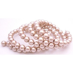 Champagne Pearls 5 Stranded Perfect Wrap Around The Wrist Bracelet