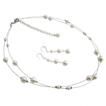 Ivory Elegant Most Sleek In Pearls Jewelry Set