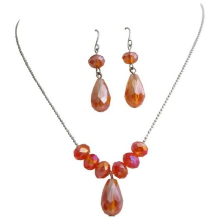 Fall Jewelry Beautiful Orange Crystals Fall Color Crystals Jwelry