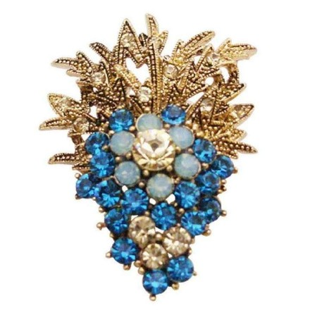 Blue Fashionable Affordable Jacket Dress Indicolite Crystals Brooch/Pin