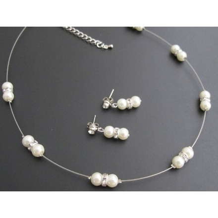Ivory Pearl With Glistening Rhinestones Perfect For Brides Or Bridesmaid
