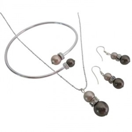 Match Your Jewelry W/ Your Cinnamon Mocha Dress Champagne Brown Pearls