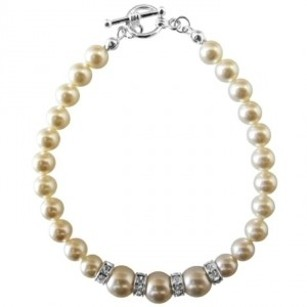 New Arrival Fashion Jewelry In Genuine Swarovski Ivory Pearls Bracelet