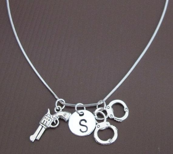 Fashion Jewelry For Everyone Gun Necklace Handcuffs ...