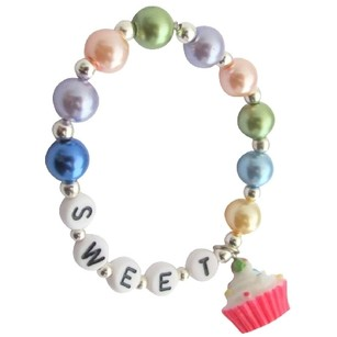 Fashion Jewelry For Everyone Party Favors Name Bracelet Christmas Cupcake Charm Bracelet