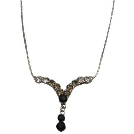 White Black Crystals Bridemaids Gifts Affordable Inexpensive Necklace