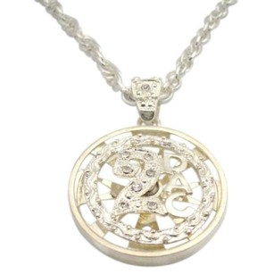 Rap Singer 2 Pac Spinning Pendant Cubic Zircon Sparkling Long Necklace