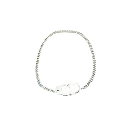 Silver Handcuff Openable Clasp Hand Cuff Thick Sexy Chain Necklace Jewelry Set