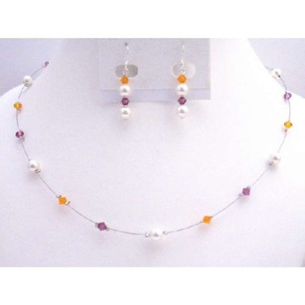 Multi Colored Sophisticated Affordable Your Bridesmaids Jewelry Set