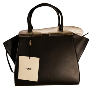 Fendi 3jours Leather 8bh2795qwf0gxn Satchel in Black