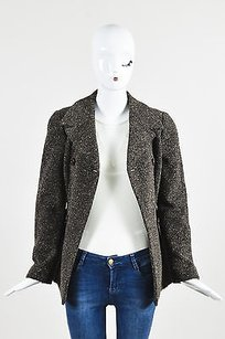 Fendi Textured Knit Brown Jacket