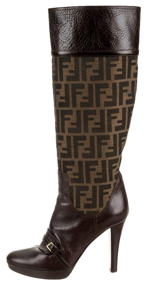 for cheap for sale low cost cheap price Fendi Round Platform Booties buy cheap outlet locations XLe61syb