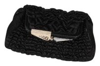 Fendi Satin Ruched Black Clutch
