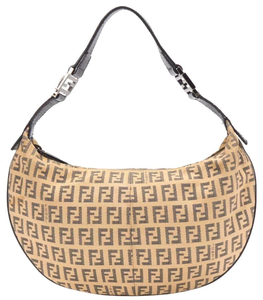 3b3fa6cce1cd ... uk fendi croissant zucca canvas hobo bag tradesy 7b11a ec634 ...