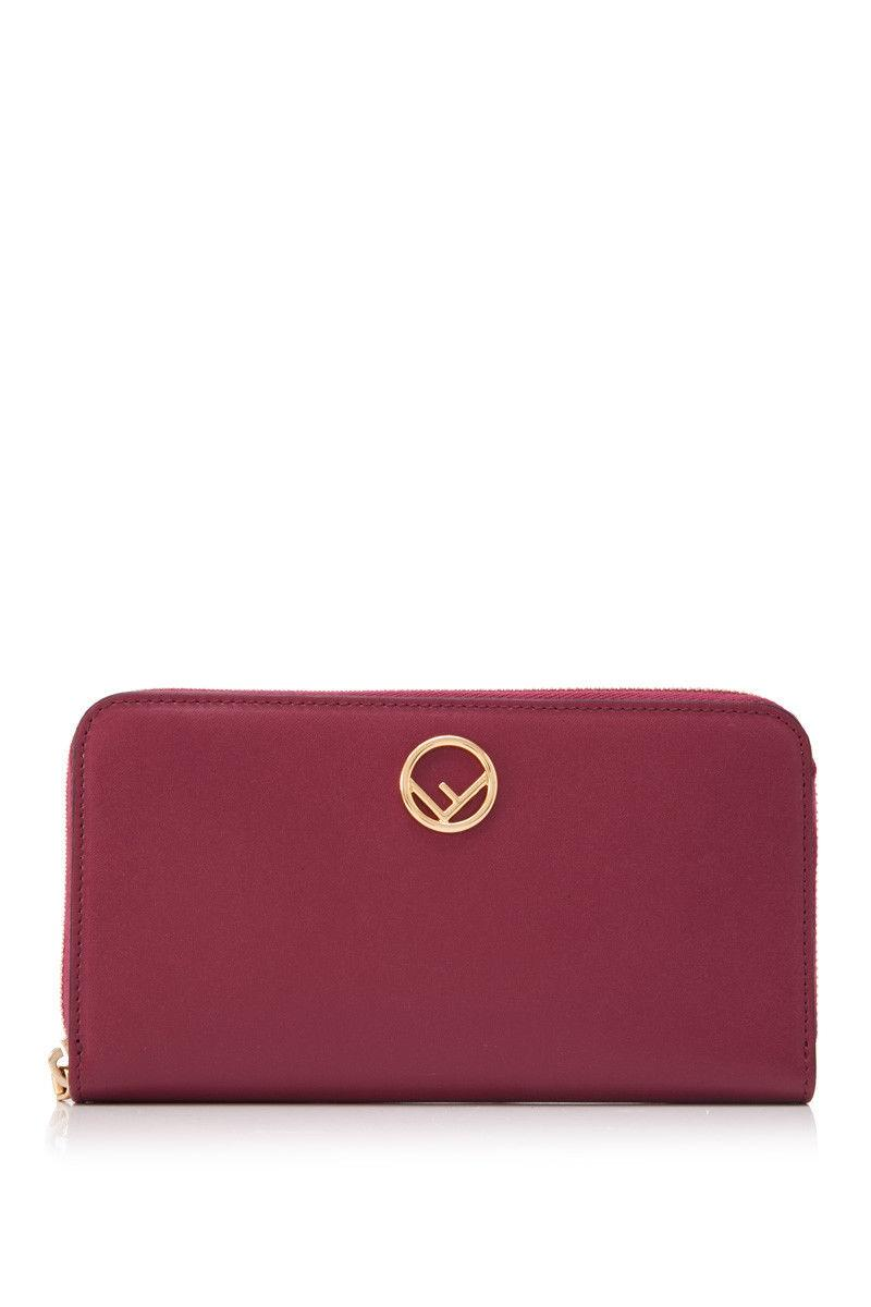 zip around leather wallet - Pink & Purple Fendi 7B9m5Up