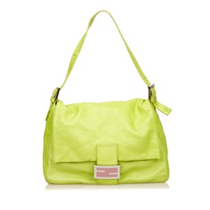 Fendi Green Leather Mint Shoulder Bag